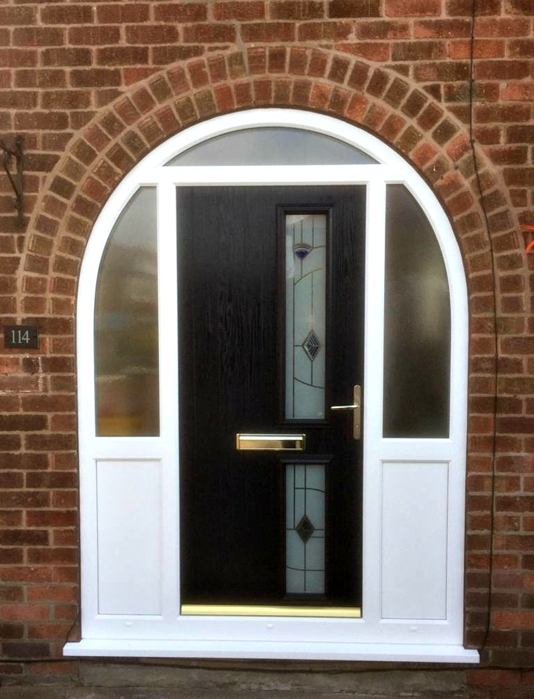 Upvc and double glazed doors nottingham lee glass and for Upvc glass front doors