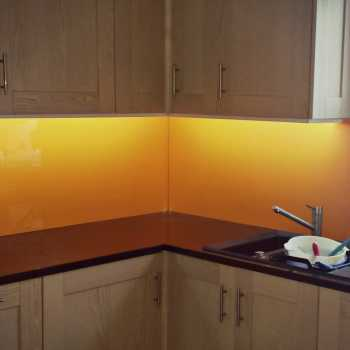 Colour RAL 2003 Pastel Orange as chosen by our customer in Bingham.