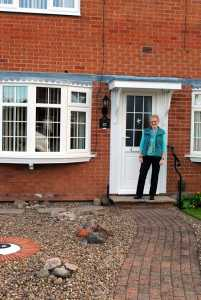 Company Director Danny Lee re-visited Mrs Murphy yesterday to apply the final touches to her recently installed new A-Rated uPVC windows and door (full front elevation). After also passing the Fensa inspection with flying colours, Danny says she's the happiest woman in Bingham!