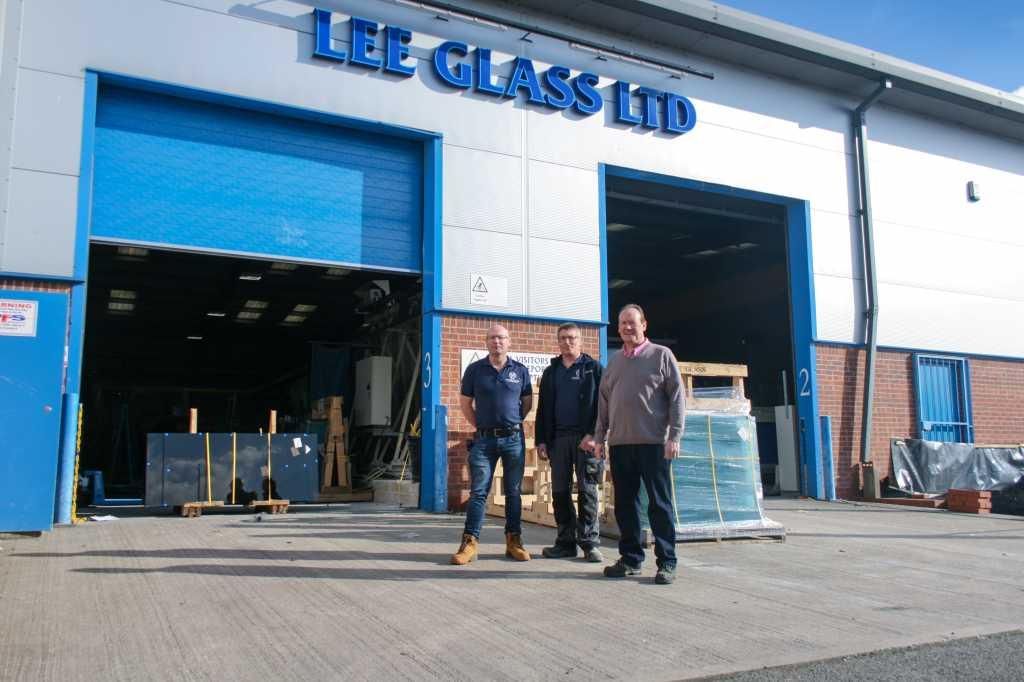Danny, Martin & John at Lee Glass, Bulwell, Nottingham branch