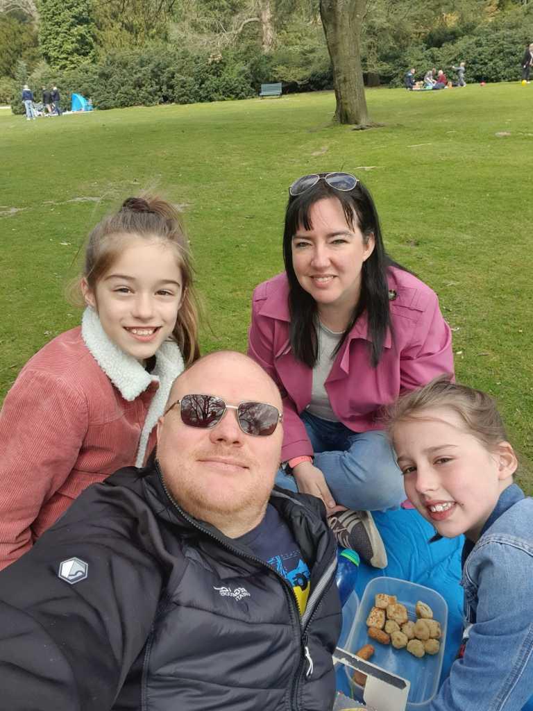 Matt Halliwell and family
